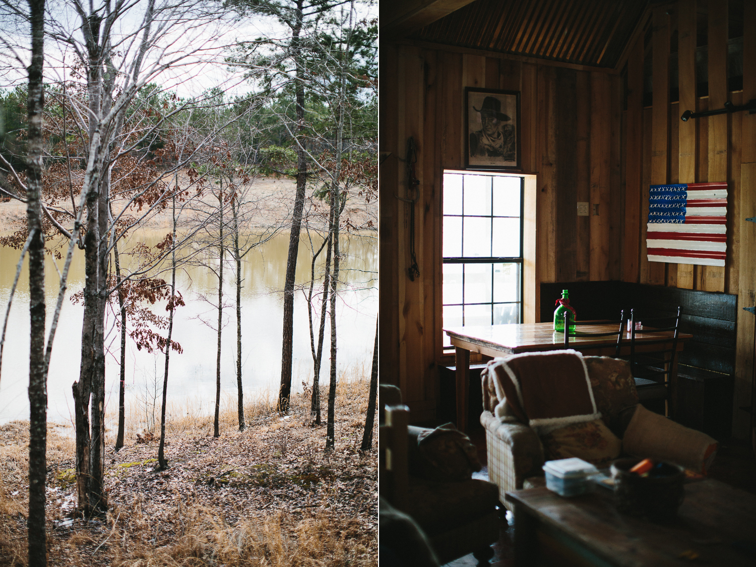 rustic southern engagement shoot