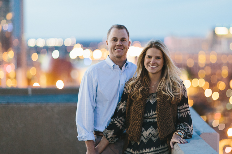Engagement Portraits with Downtown Atlanta Skyline