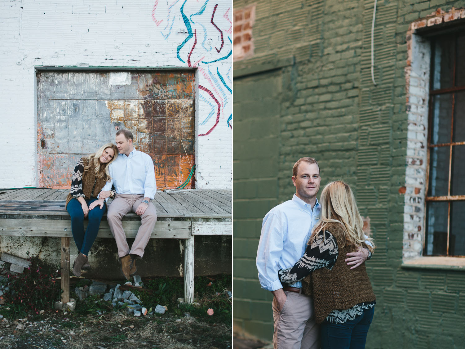 Urban Style Engagement Portraits in Downtown Atlanta