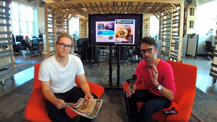 Techopia editor Craig Lord and Techopia Live host Carlo Lombard