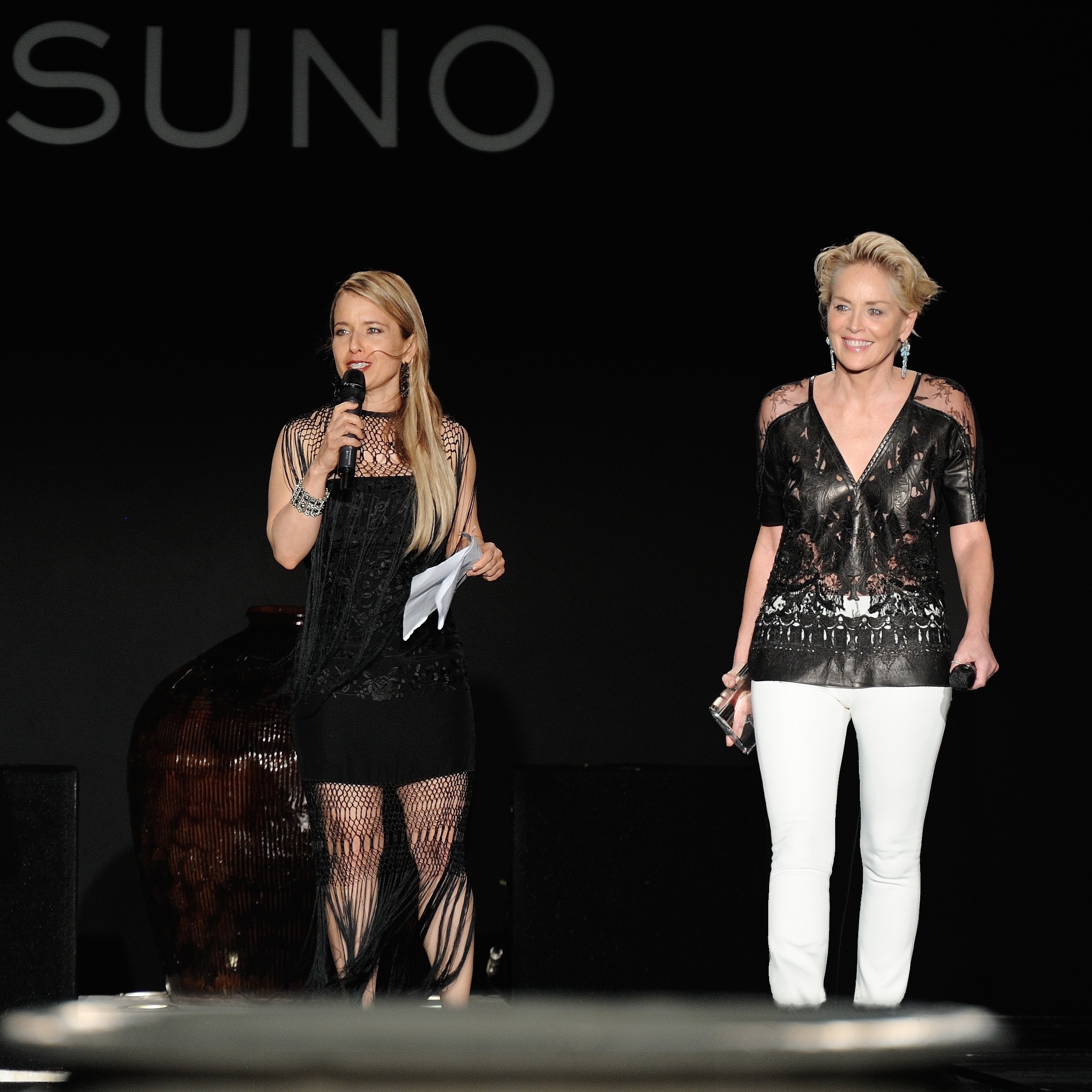 Tammy Apostol alongside Sharon Stone at FGI Planet Hope Awards (Photo Credit: rhk)
