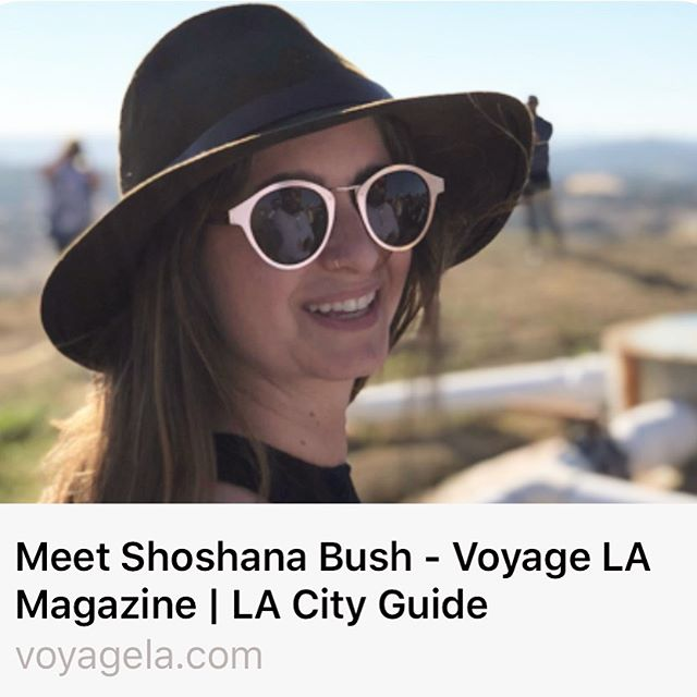 Thanks @voyagelamag for including me in your Inspiring Stories section! (Link in bio)