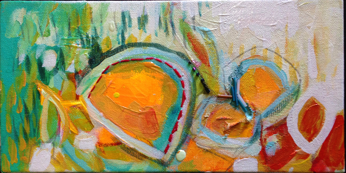 """6"""" x 12""""      SOLD   Mixed Media on Canvas"""