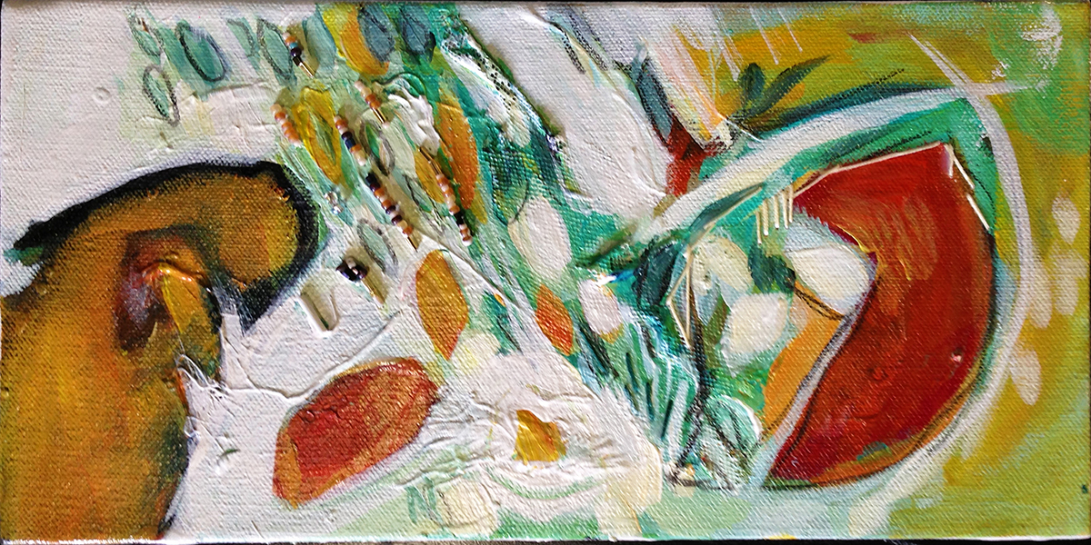 """6"""" x 12""""      FOR SALE   Mixed Media on Canvas"""