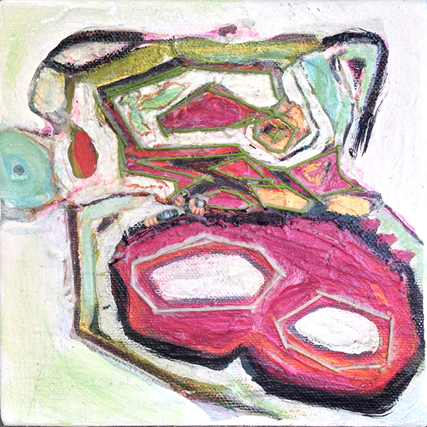 """6"""" x 6""""      FOR SALE   Mixed Media on Canvas"""