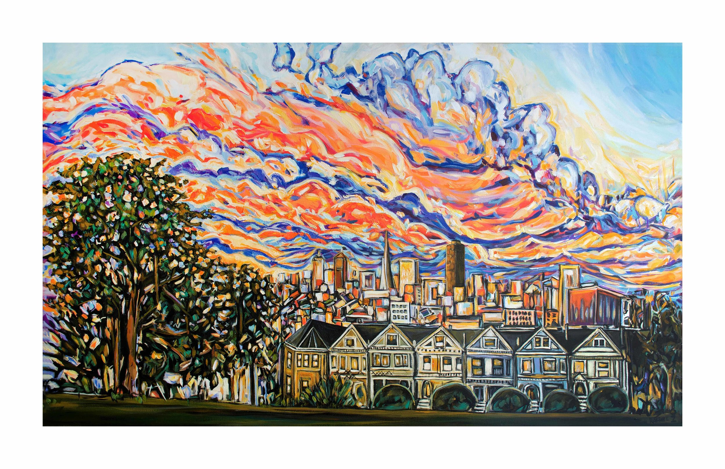 Alamo Square Sunset [11x17]