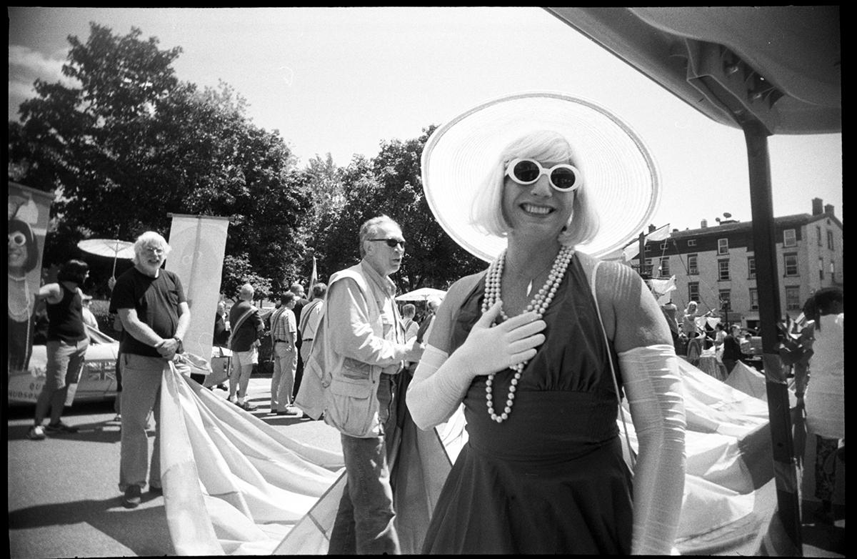 Trixie Starr @ the 2013 Pride Parade line up | Hudson NY