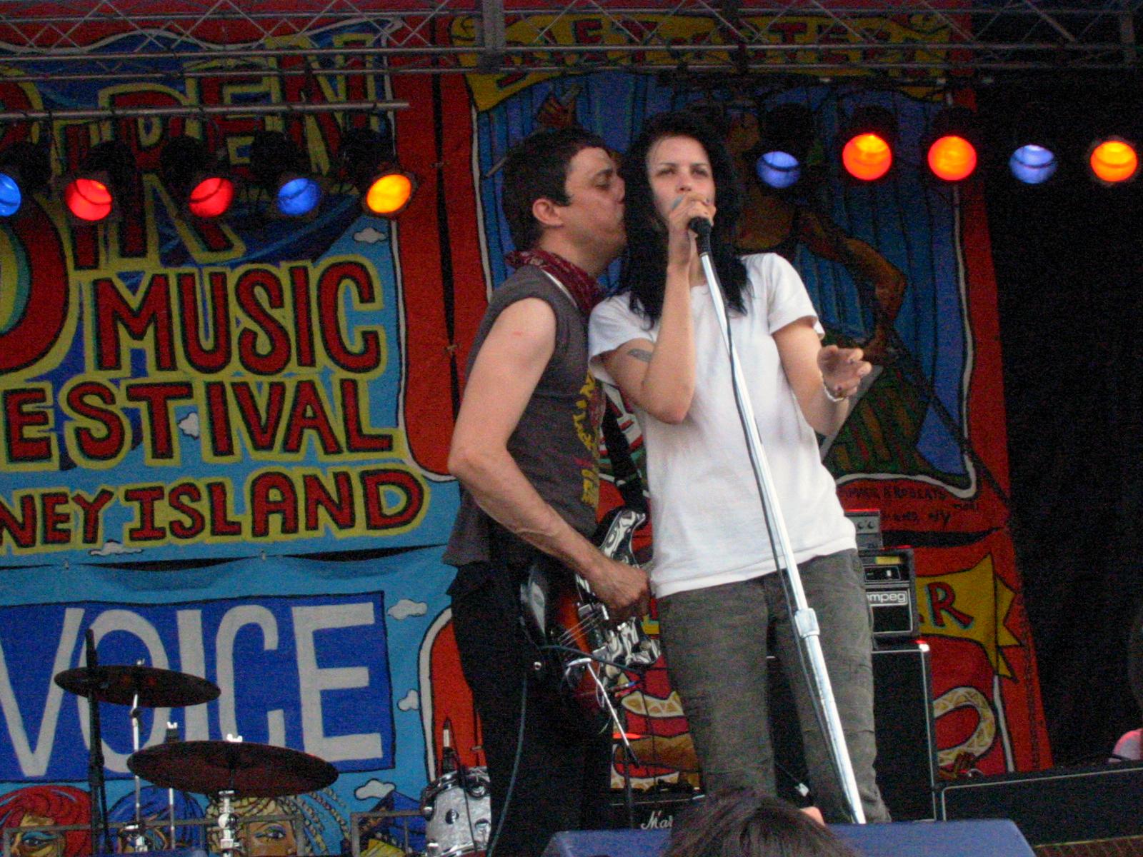 The Kills, Siren Music Festival, Coney Island, Brooklyn NY
