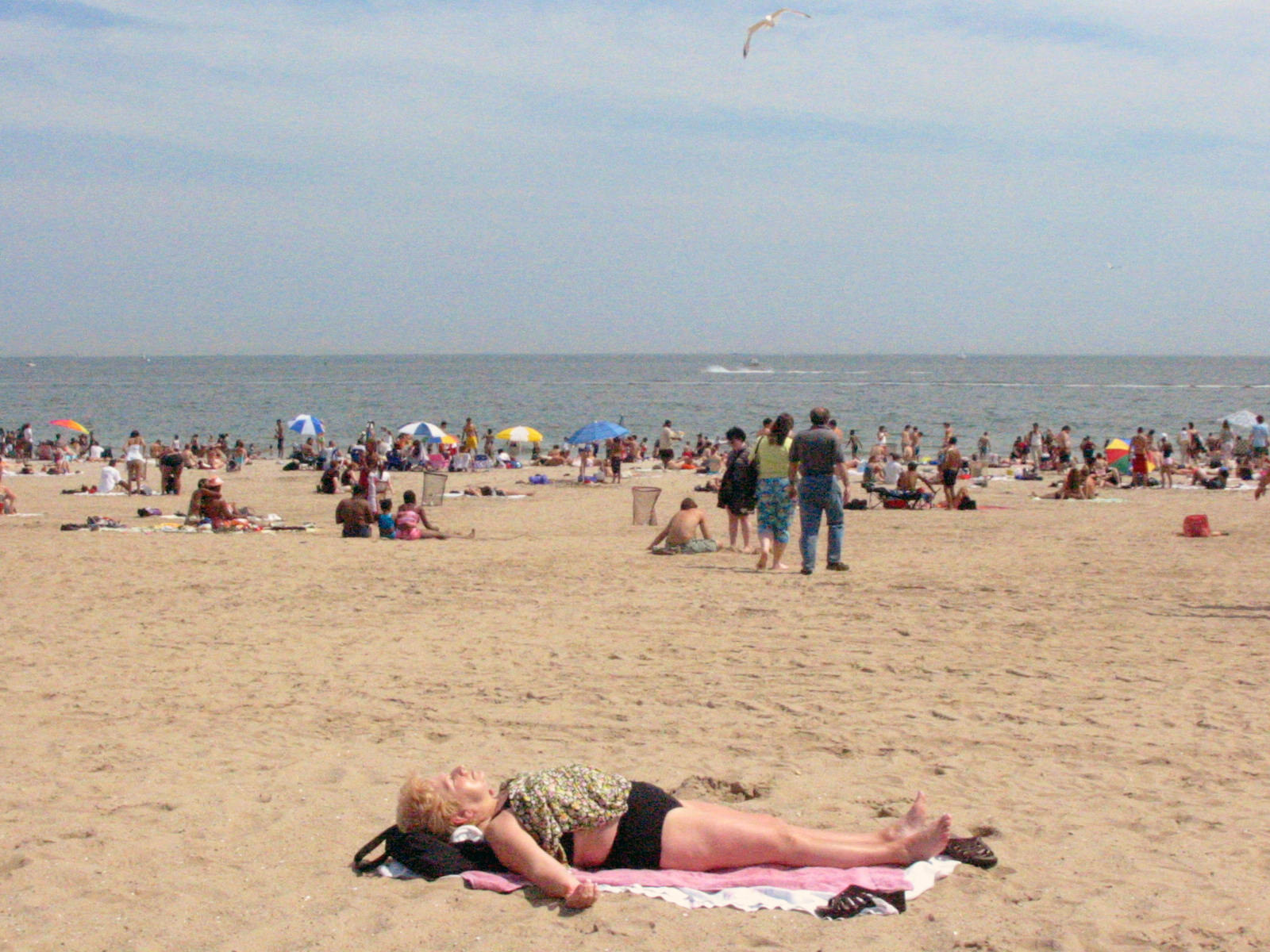 The Beach at Coney Island, Brooklyn NY