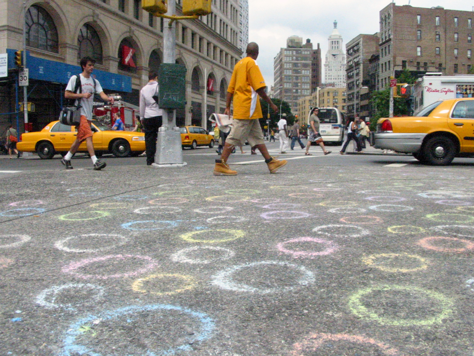 Circles, Astor Place, New York City