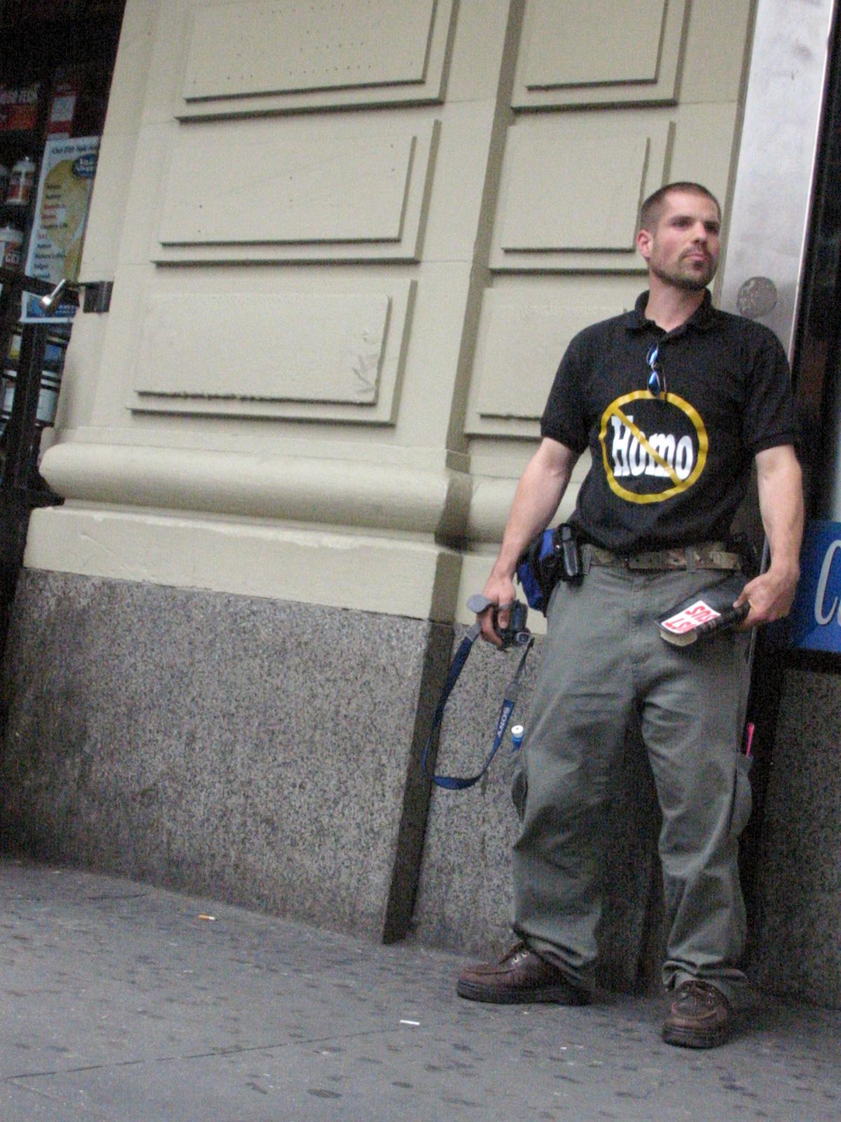 Harvey Milk High School Protester, Astor Place, New York City