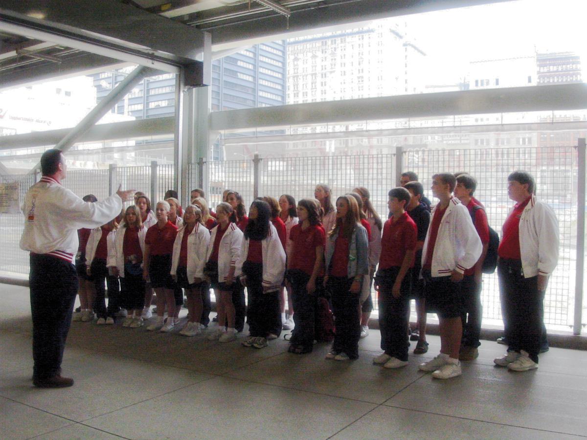 Choir at Ground Zero, WTC Path Station, New York City