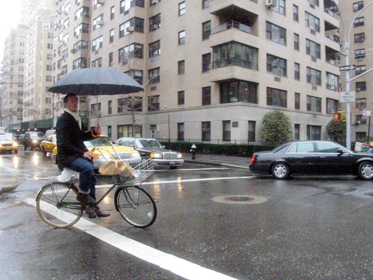 Rain, E. 9th Street, New York City