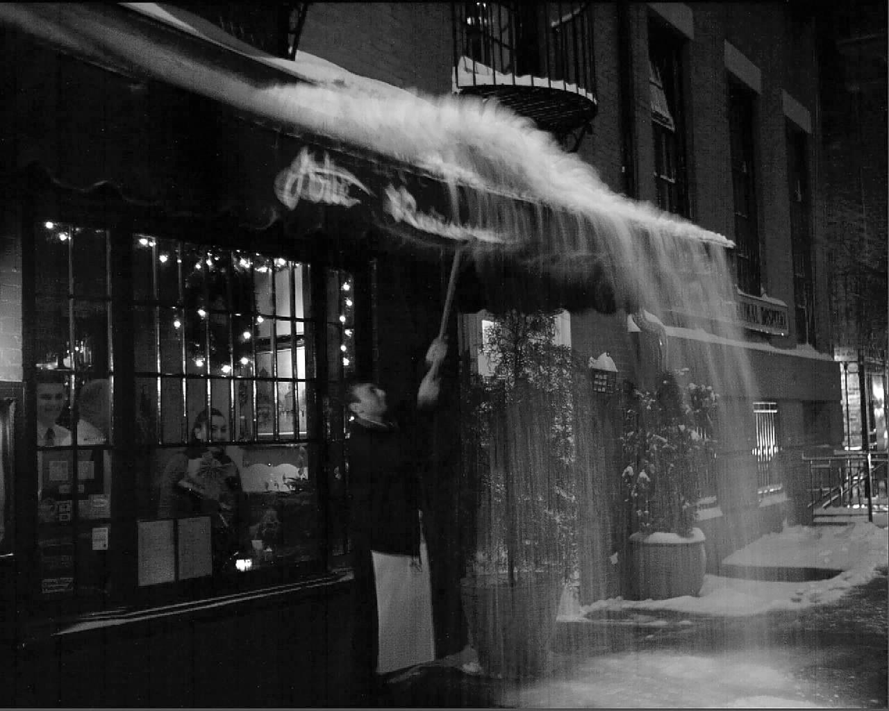 Snow, 9th street, New York City