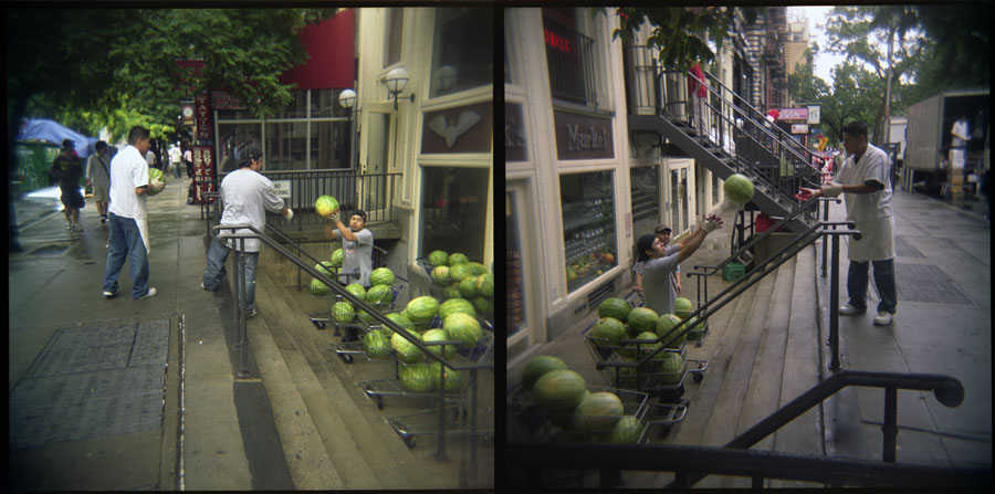 Watermelon, St Marks Place, New York City