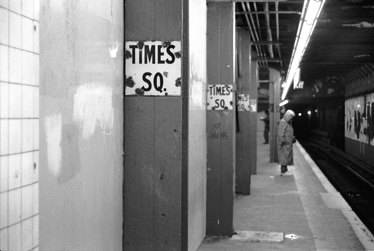 Subway Stop, Times Square, New York, NY