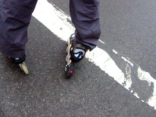 Footwear: White Line Fever | East Village, New York City