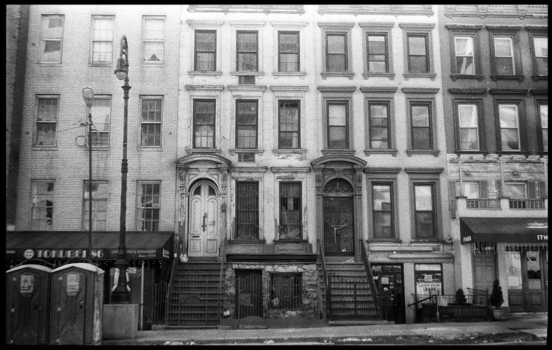 Row Houses on E. 86th Street, New York NY camera: Smena Symbol