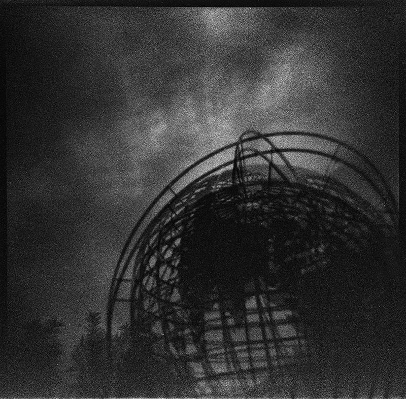 Dark Worlds | Stainless Steel Globe, Columbus Circle, Trump International Hotel & Tower (Double Exposure)
