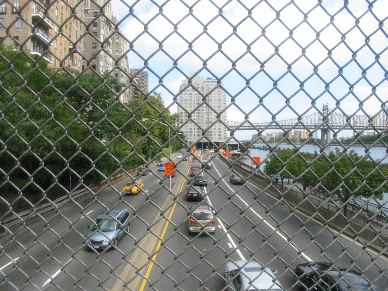 View from E 51st Street Pedestrian Crossing