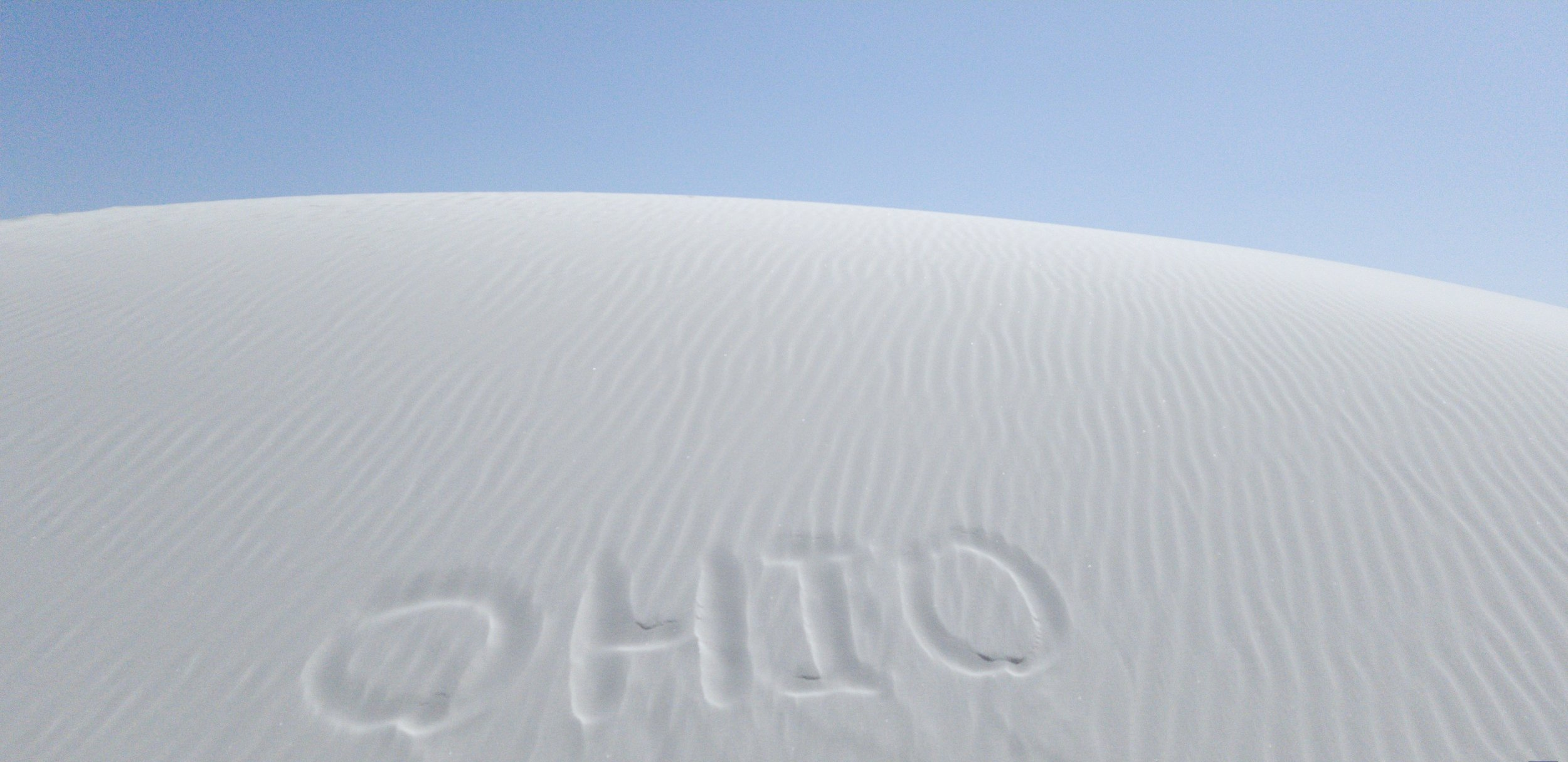 No matter where you go, there you are. White Sands, NM