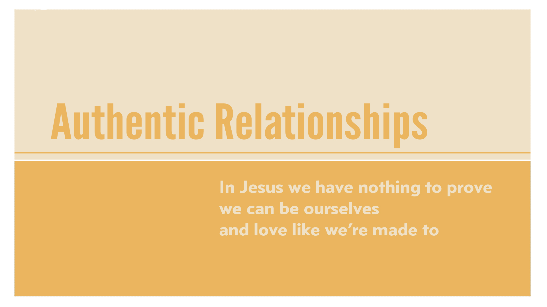 Jesus did not die just to give us a personal, private relationship with God. He died to fix all that is wrong with the world, including our relationships, which can now be characterized by honesty and forgiveness instead of self-preservation and hiding. We're fighting to live into these relationships we were made for.