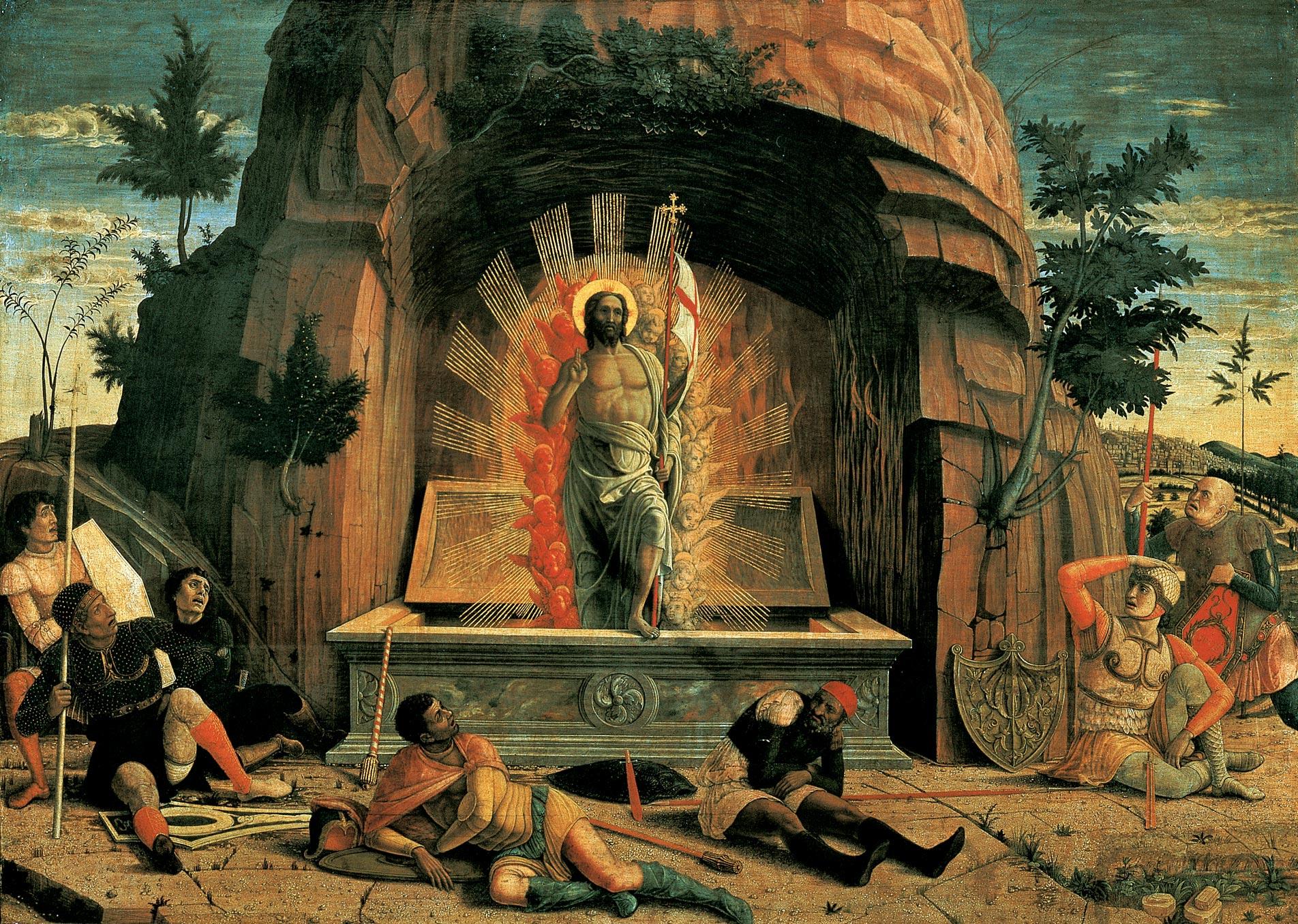 Andrea Mantegna,  Resurrection , 1459