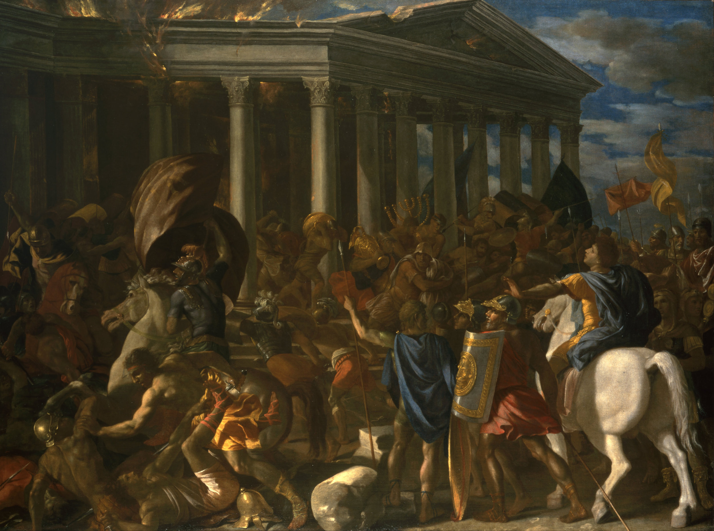 Nicolas Poussin,  The Destruction and Sack of the Temple of Jerusalem , 1626