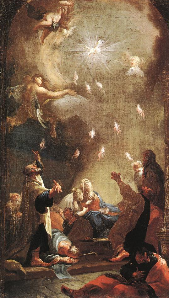 Joseph Ignaz Mildorfer,  pentecost , 1750