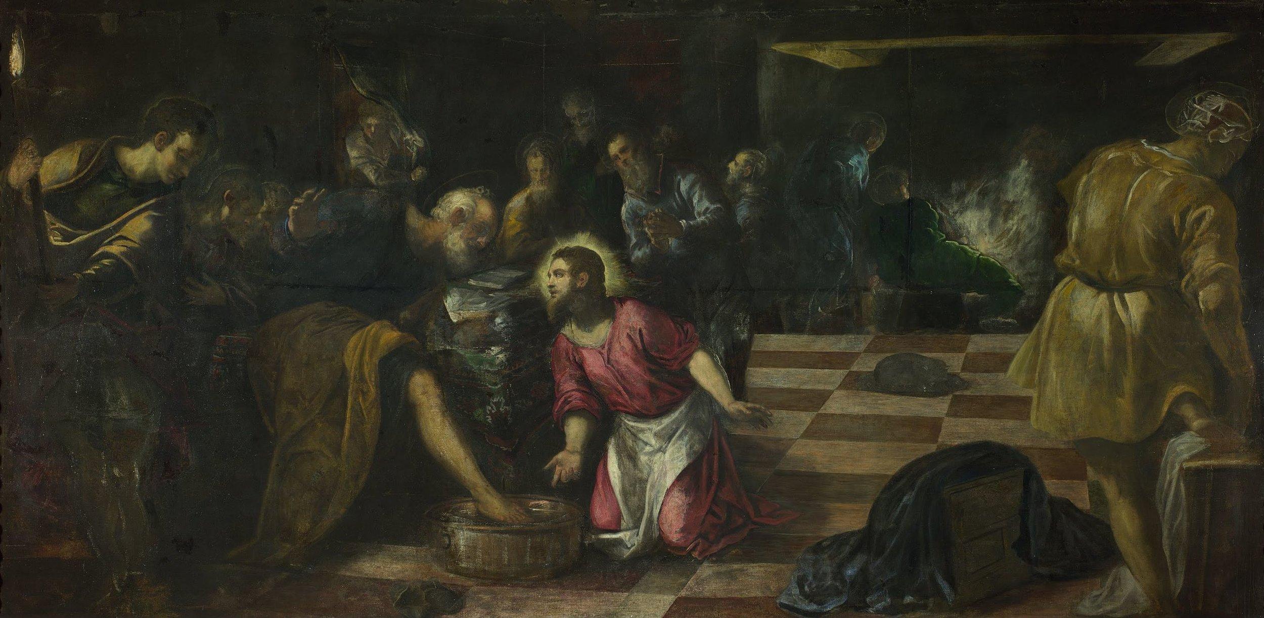 Jacopo Tintoretto,  Christ Washing the Disciples' Feet  , 1575 – 1580