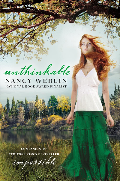 UNTHINKABLE by Nancy Werlin  Fenella was the first  Scarborough girl to be cursed, hundreds of years ago, and she has been  trapped in the faerie realm ever since, forced to watch generations of  daughters try to break this same faerie curse that has enslaved them  all. But now Fenella's descendant, Lucy, has accomplished the impossible  and broken the curse, so why is Fenella still trapped in Faerie?     In her desperation, Fenella makes a deal with the faerie queen: If she  can accomplish three acts of destruction, she will be free, at last, to  die. What she doesn't realize is that these acts must be aimed at her  own family and if she fails, the consequences will be dire, for all of  the Scarborough girls.    How can she possibly choose to hurt her  own cherished family not to mention the new man whom she's surprised to  find herself falling in love with? But if she doesn't go through with  the tasks, how will she manage to save her dear ones?