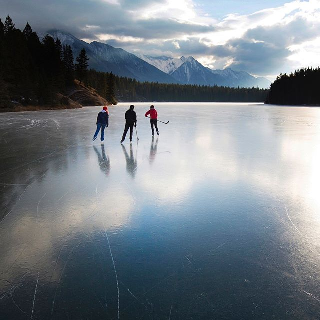 Ice chasers...a fleeting skate before the snow.