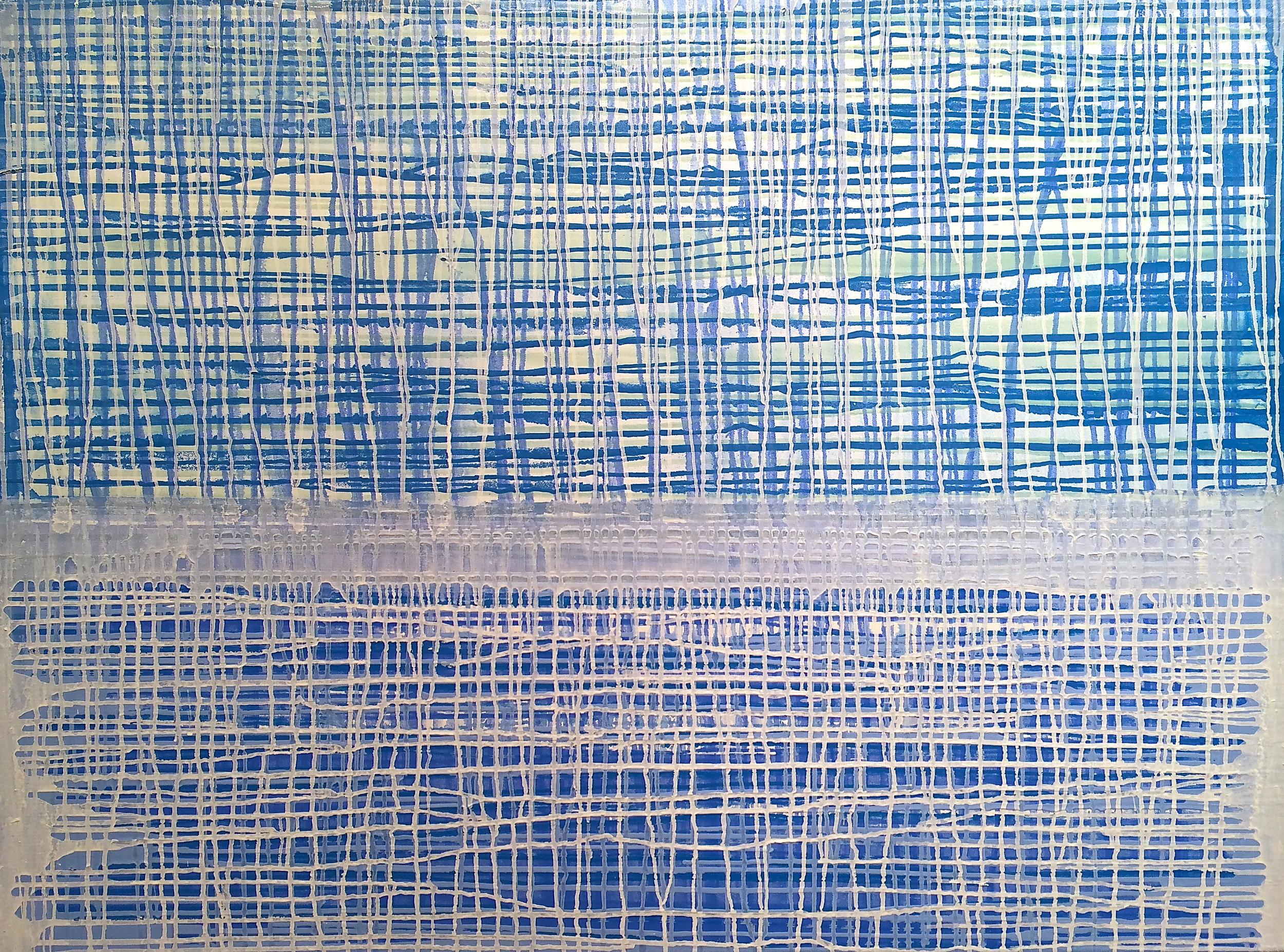 """Woven Horizon, 38"""" x 48"""", oil on Canvas, 2013"""