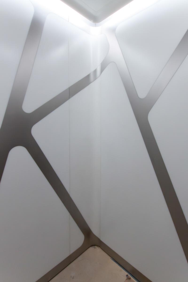 HL23 Thermoformed Corian Elevator Panels - New York City