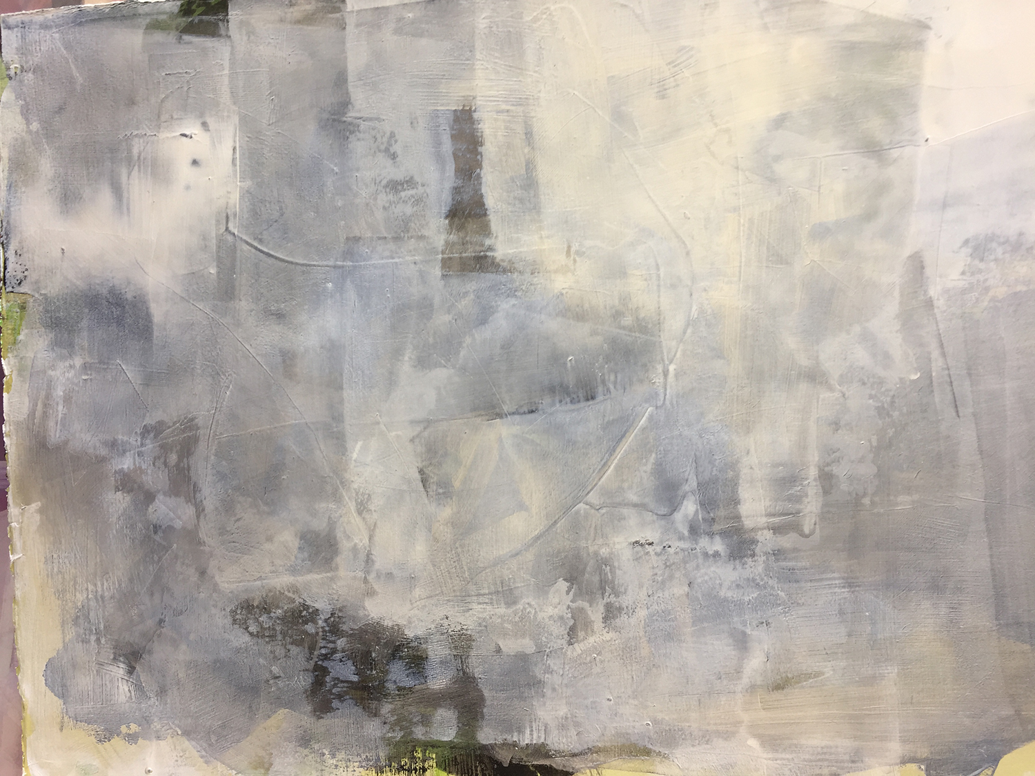 """Alliteration #8 16"""" x 22"""" Sumin ink, acrylic on paper $335"""