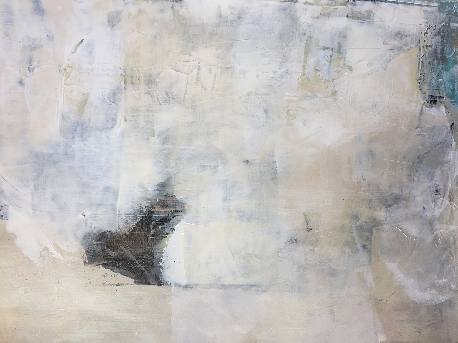 """Alliteration #7 16"""" x 22"""" Sumin ink, acrylic on paper $335"""