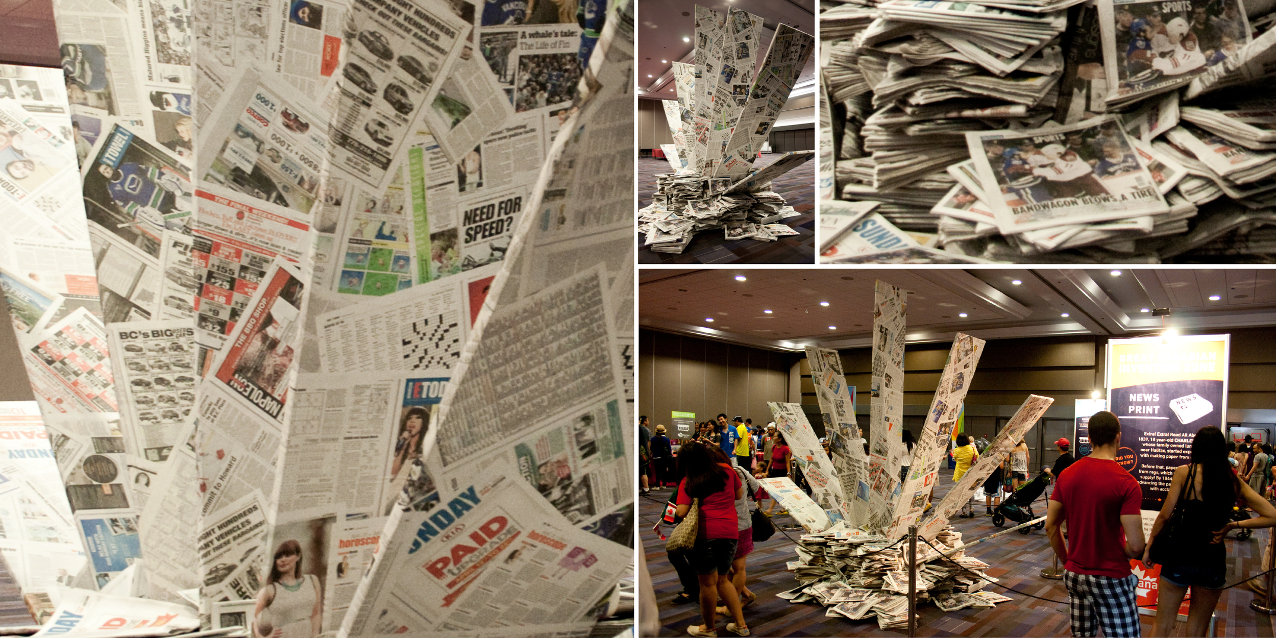 Newsprint exhibit – Finished product