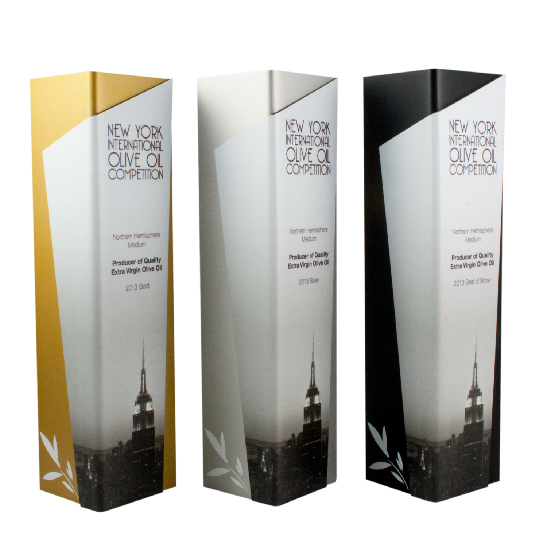 custom handcrafted trophy design - new york city
