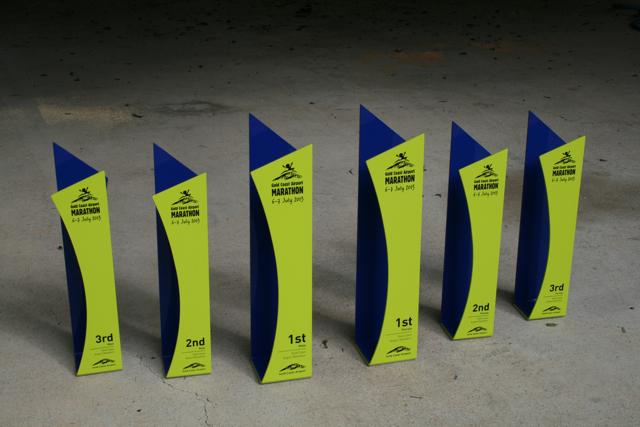 Custom trophy design for the Gold Coast Marathon 2013