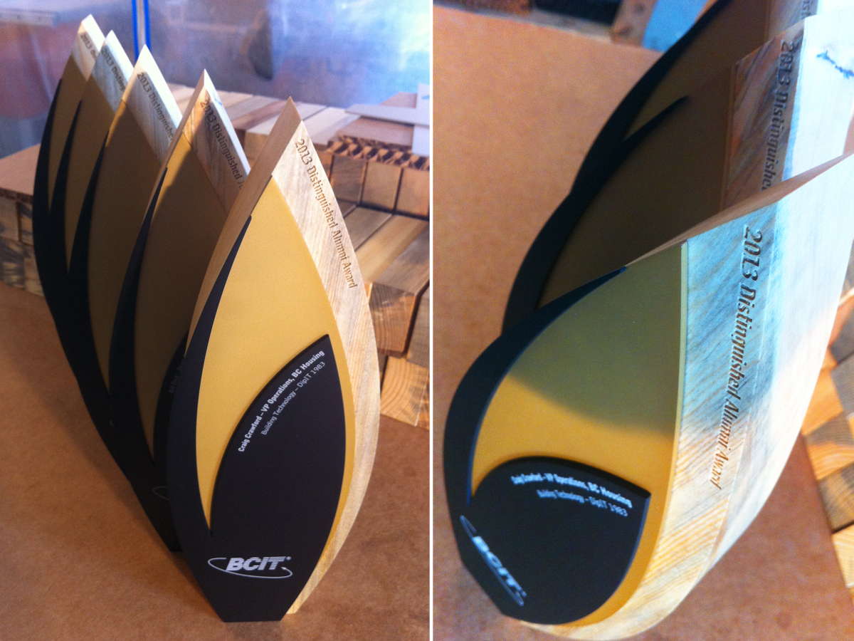 custom eco trophy - sustainable materials 2