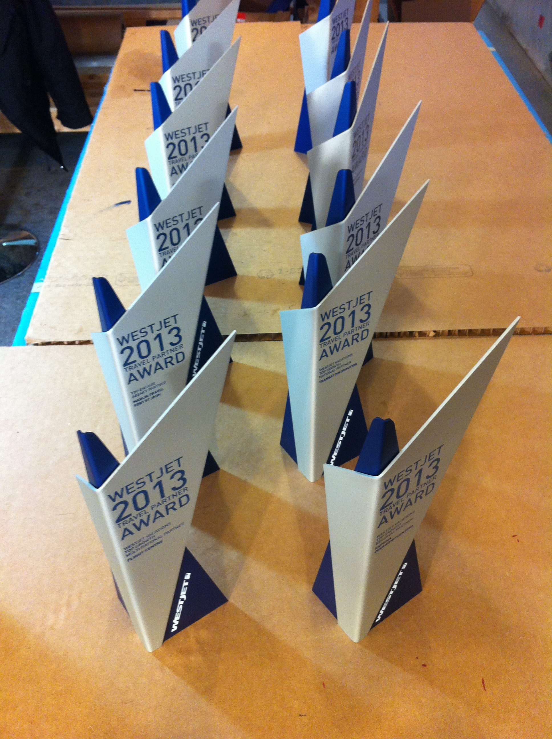 Custom design for the 2013 WestJet Travel Partner Awards