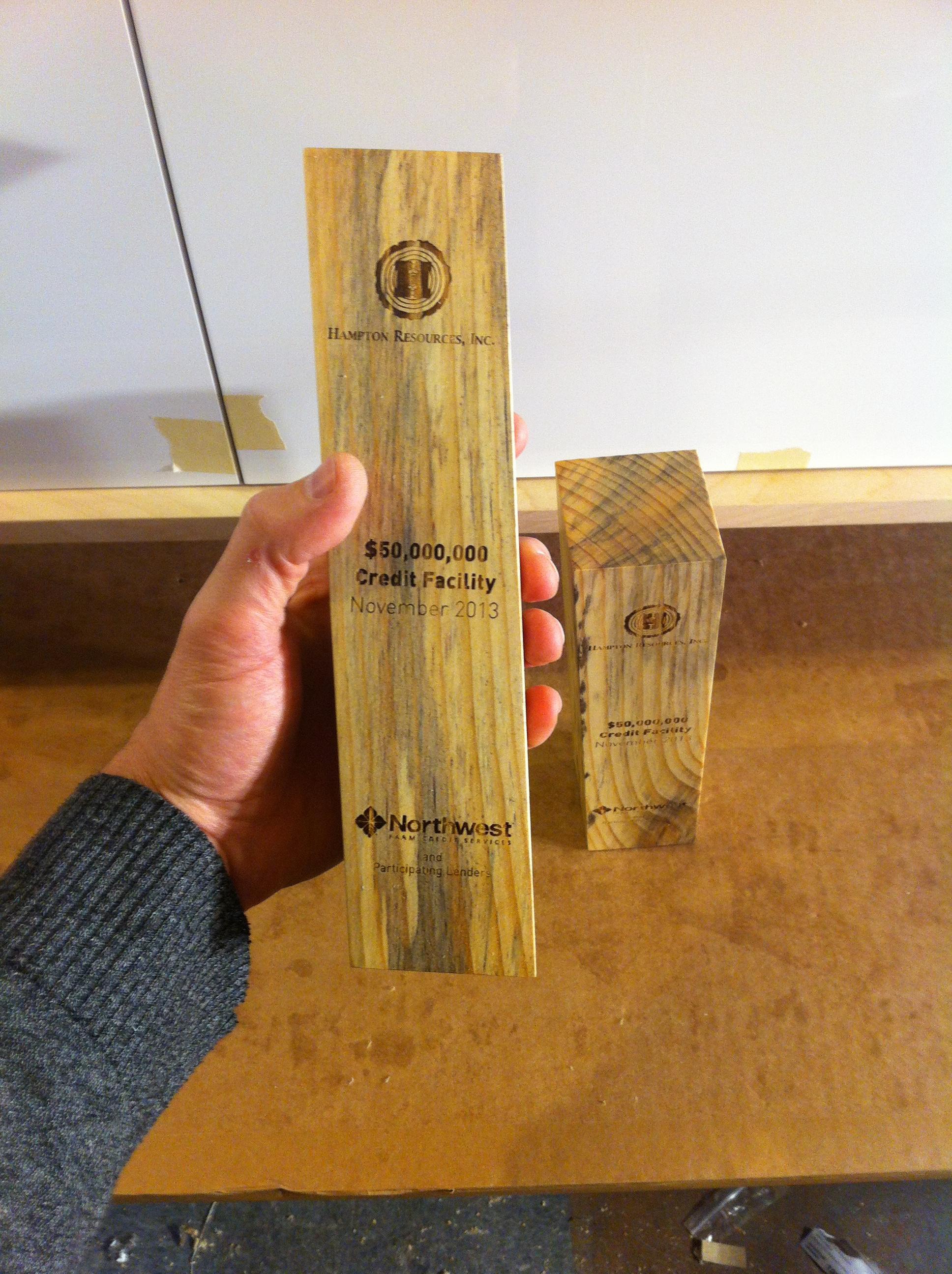 eco sustainable trophy award beetle wood