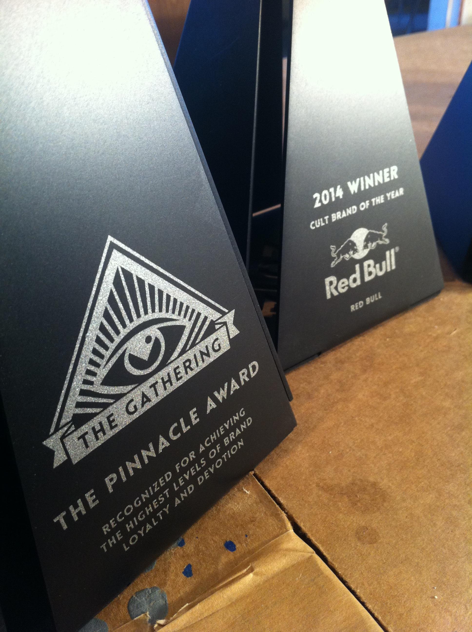 CULT AWARDS custom pyramid, pyramid trophy, pyramid award, modern pyramid, unique pyramid trophy, custom trophy design