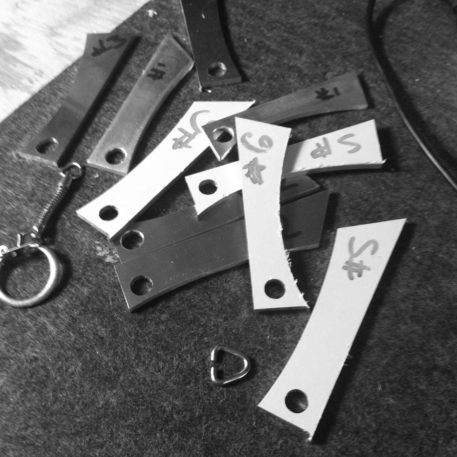 custom keyrings - CNC prototype