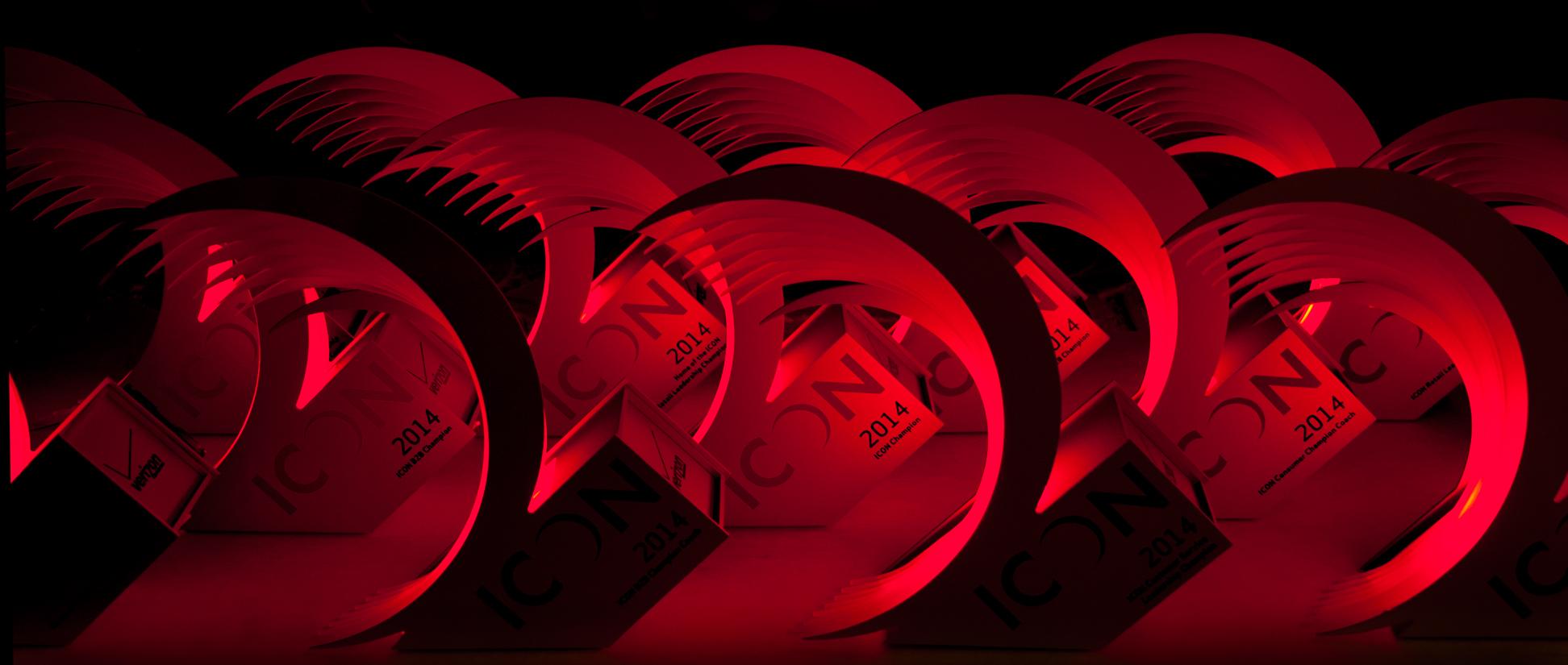 verizon custom awards trophies LEDs glowing