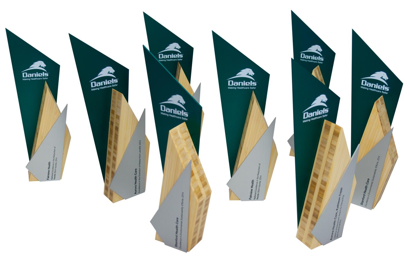 daniels healthcare - custom award designs eco-friendly