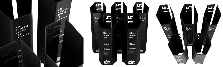 custom awards - rsp business awards linde leading lights