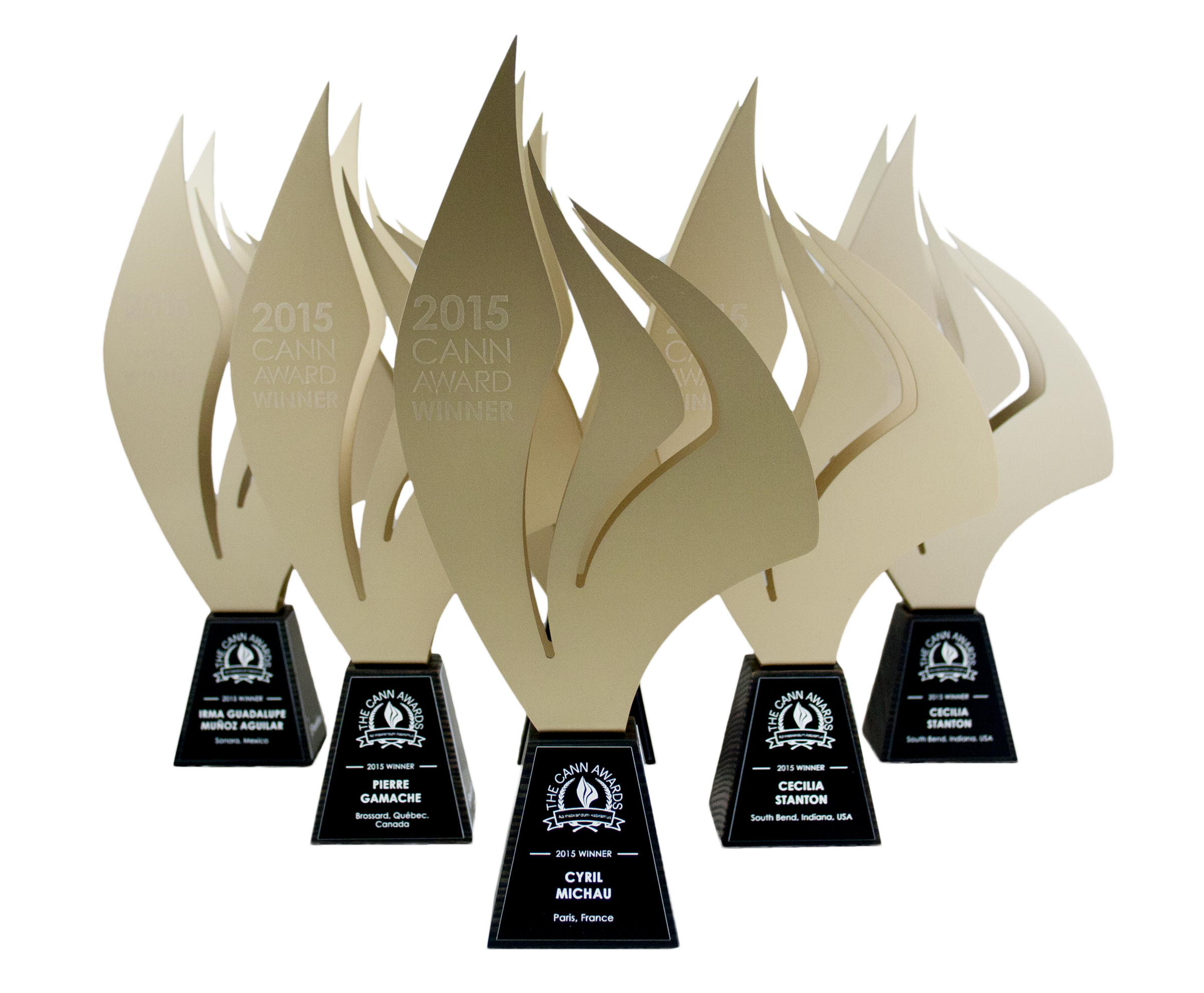 cann 2015 - custom designed trophies