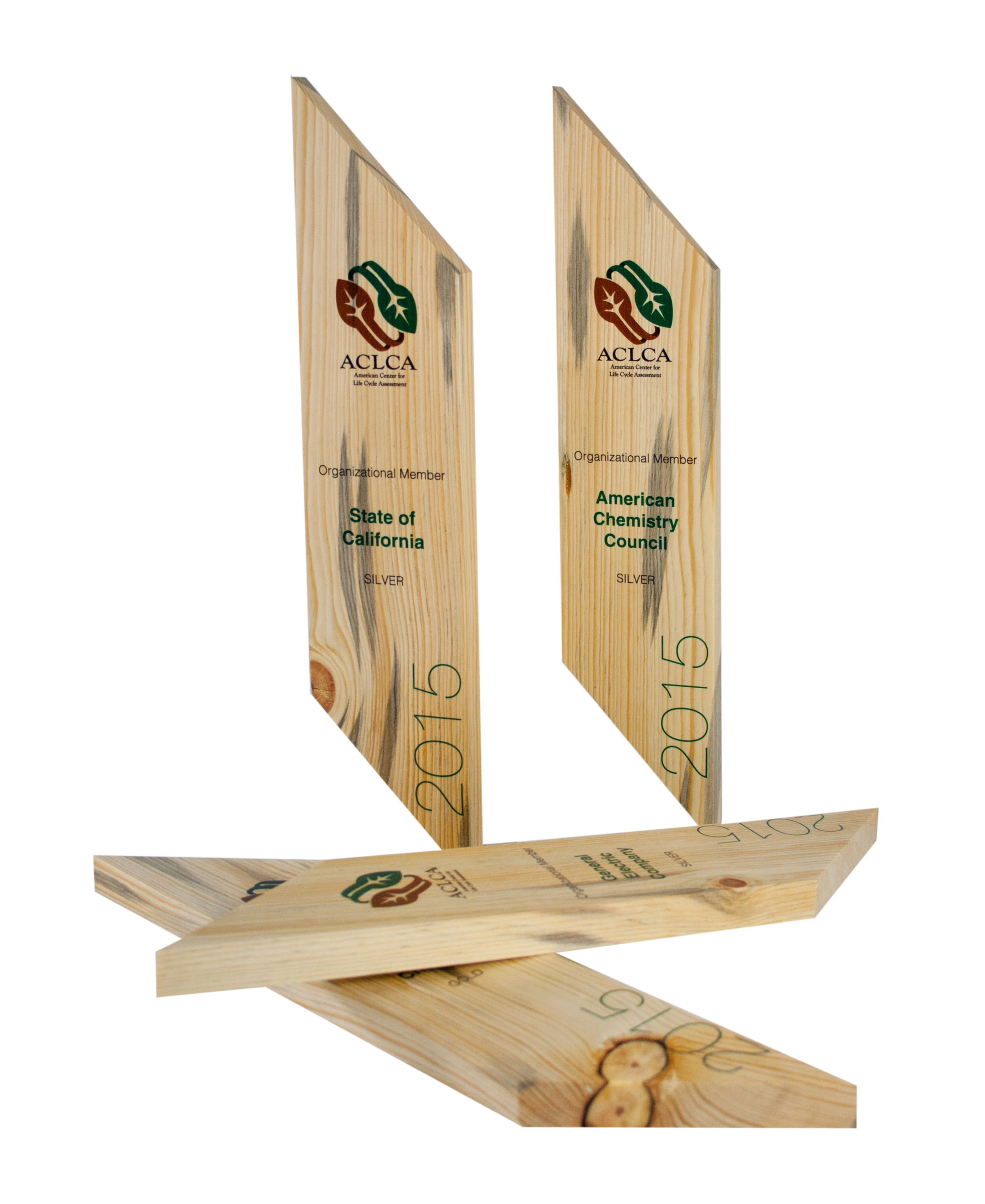 recovered wood plaques simple modern eco green trophies awards