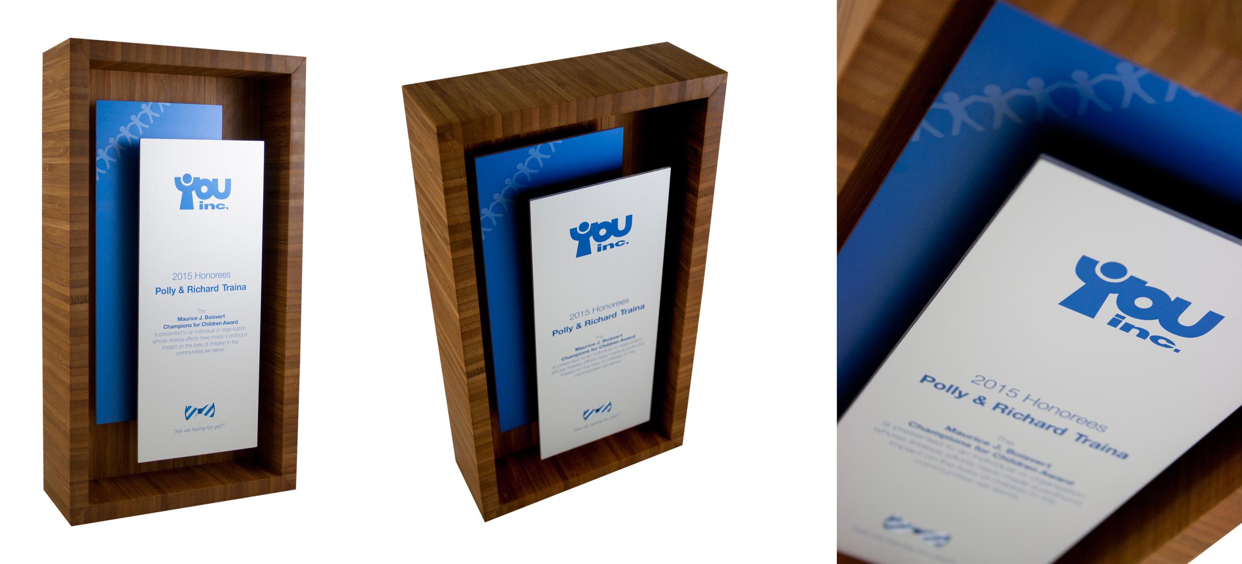 you inc - modern shadow box custom plaque